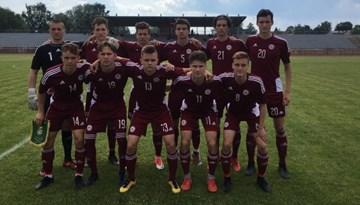 U-19 izlasei Baltijas kausa pirmajā mačā graujoša uzvara