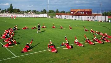 U-17 izlasei pirms Baltijas kausa treniņnometne Jelgavā