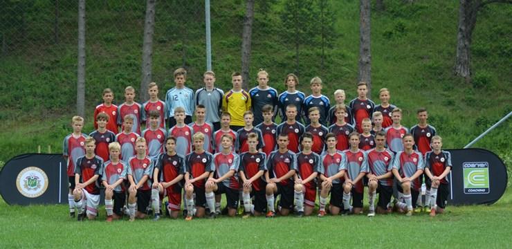 """Ar """"Coerver"""" programmu strādā arī Futbola akadēmijas U-14 talanti"""