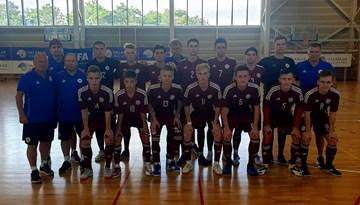 Latvijas U-19 telpu futbola izlasei uzvara pret Poliju