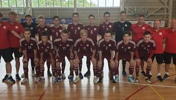 Latvijas U-19 telpu futbola izlase noslēgusi dalību pārbaudes spēļu turnīrā
