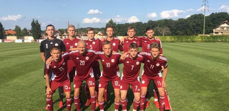 U-18 jauniešu izlase turnīru Čehijā sāk ar piekāpšanos ungāriem