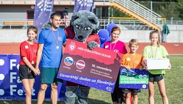 Futbola ģimeņu festivālā Foot Fam Fest Saldū uzvar Zāģeru ģimene