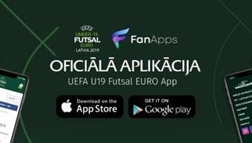 Apritē tiek laista U-19 Eiropas čempionātam telpu futbolā paredzēta aplikācija viedtālruņiem