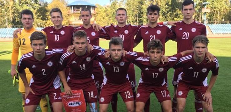Federācijas kausa izcīņas ievadā Latvijas U-19 izlase piekāpjas Austrijai