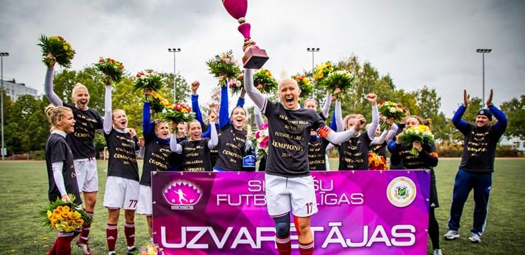 Dinamo Rīga grauj konkurentu un triumfē Latvijas čempionātā