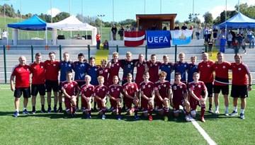 Latvijas U-15 komanda turnīrā Sanmarīno paliek nepārspēta