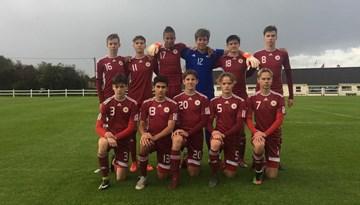 LFF FA U-15 audzēkņi piekāpjas īriem