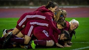 Sieviešu izlase piektdien sāks gatavoties izbraukuma spēlei Ungārijā