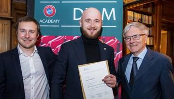 LFF pārstāvis kā viens no pirmajiem Eiropā absolvējis jaunu UEFA izglītības programmu
