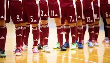 Mediju akreditēšanās Latvijas telpu futbola izlases spēlei pret Spāniju