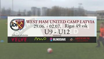 """Pirmo reizi Latvijā nometne jauniešiem """"West Ham United"""" treneru vadībā"""
