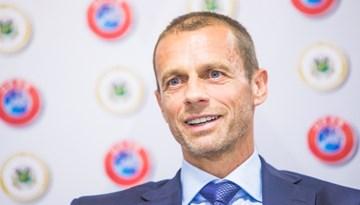 UEFA prezidenta apsveikums Vadimam Ļašenko ar ievēlēšanu amatā