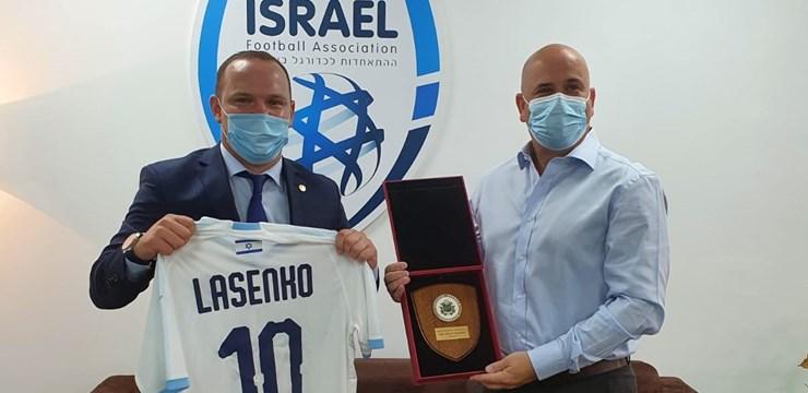 Vadims Ļašenko pirmajā ārvalstu vizītē tiekas ar Izraēlas Futbola asociācijas prezidentu
