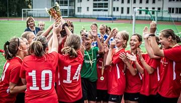 Liepājniecēm tituls meiteņu čempionāta U-12 Elites grupā