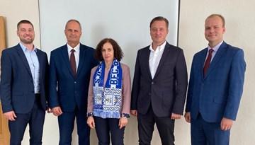 Izglītības ministre apmeklēja un novērtēja BFC Daugavpils akadēmijas darbu