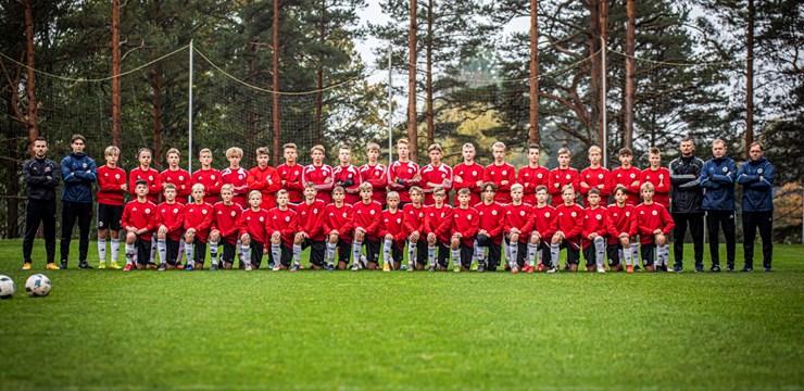 Futbola akadēmija talantu skatē pulcē U-13 grupas jauniešus