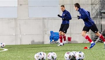 Foto: Latvijas izlase trenējas Andorā