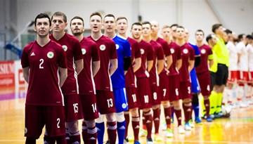 Nosaukti telpu futbola izlases pārstāvji spēlei ar Spāniju