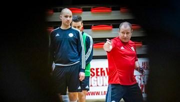 Latvijas telpu futbolisti gatavojas divām mājas spēlēm