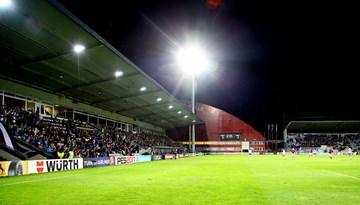 """Latvijas - Melnkalnes mačs notiks """"Skonto"""" stadionā"""