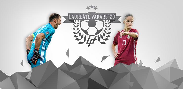 Gada labākie Latvijas futbolisti: Sandra Voitāne un Pāvels Šteinbors