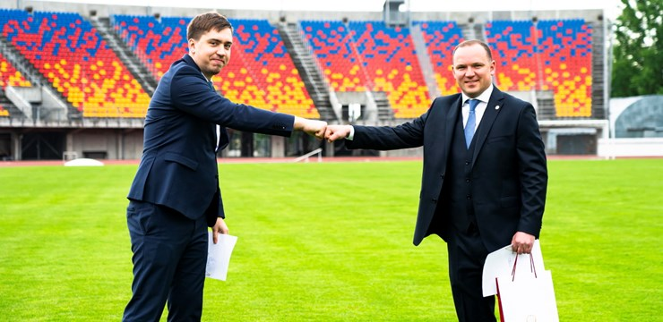"""Jumta izbūve """"Daugavas"""" stadiona rietumu tribīnē paredzēta šogad"""