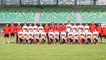 Foto: Jelgavā sadarbības slīpē U-19 izlases kandidāti