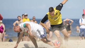 Startē Latvijas un Igaunijas apvienotā pludmales futbola līga