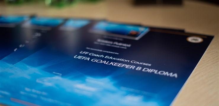 LFF rīkotajam UEFA B-GK licences kursam izlaidums