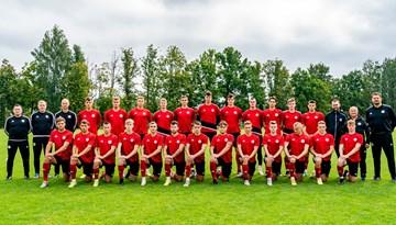 Foto: Latvijas U-21 izlase gatavojas septembra spēlēm