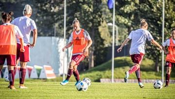 Mediju akreditēšanās sieviešu izlases spēlei pret Austriju